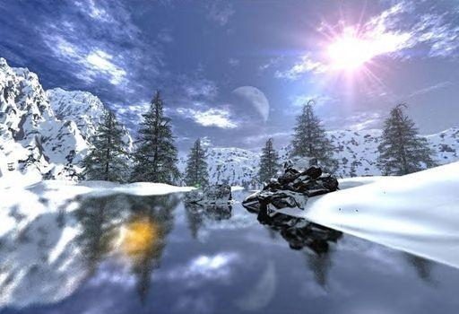 Jolie paysage de neige - Photos de neige gratuites ...